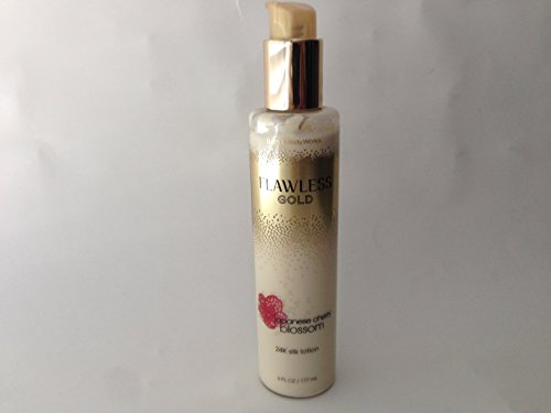 Bath and Body Works New Flawless Gold Japanese Cherry Blossom 24K Silk Lotion 6 Oz