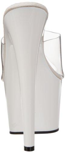 Femme Clr Blanc Adore 701 Wht Ouvert Bout Pleaser Sandales qOHxXFwx4