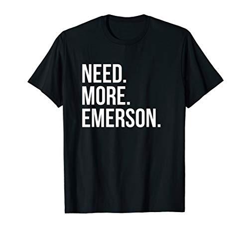 Ralph Waldo Emerson T-Shirt - Need More Emerson (Emerson Shirt Black)
