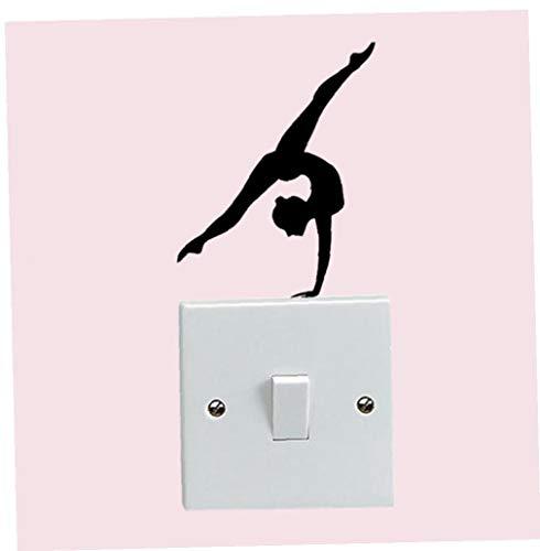 1pc Home Décor De Gymnastique Personnalité Autocollant Mural Vinyle Commutateur Decal