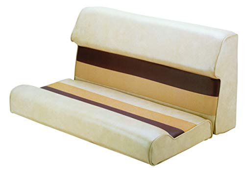 - Wise 36-Inch Pontoon Bench Seat Cushion (Base Required to Complete), Sand-Chestnut-Gold (Renewed)