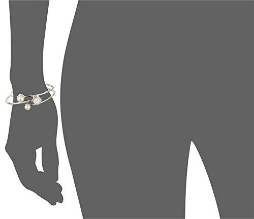 Rebecca Hollywood-bracelet femme-plaqué or-oxyde de zirconium blanc plaqué rhodium-Perle d'imitation-blanc-BHOBBB12