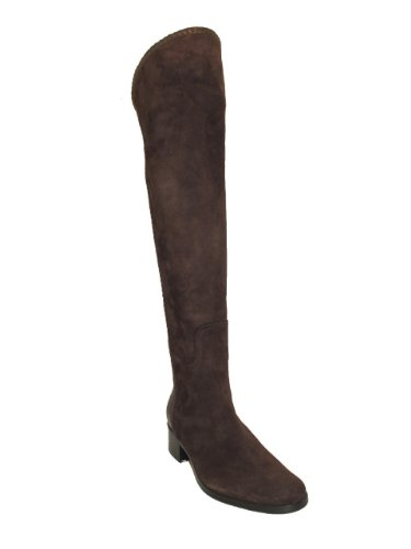 Womens Le Pepe 231277 Over Kneet Flat Boot Brown