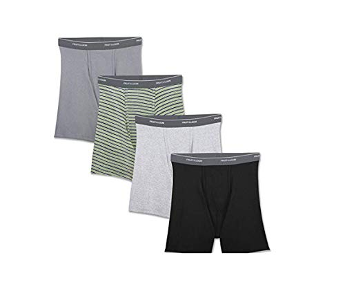 Fruit of the Loom Men's Boxer Brief, Assorted Colors - Support Pouch