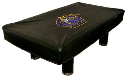 NCAA - Universal Fit Pool Table Cover Team: LSU - State Tigers Lsu Pool Table