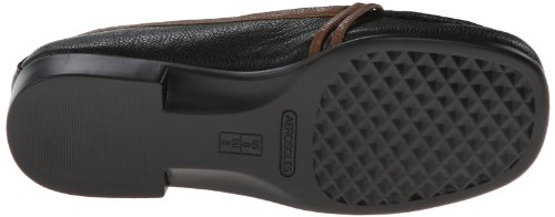 Aerosoles Womens Dubious Loafer Black Tan Combo