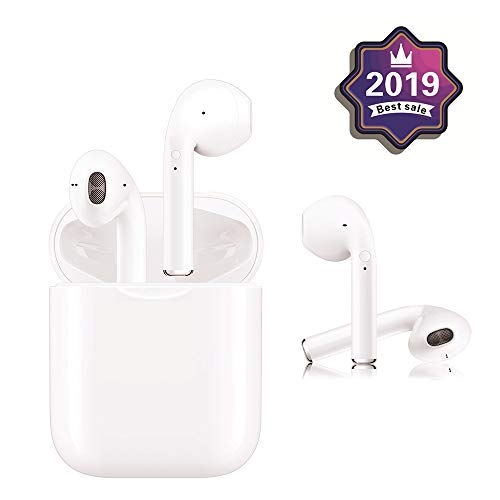 Bluetooth Earbuds, latest Upgraded Wireless Bluetooth Headset - with Charging Case, Smart Noise Reduction, Binaural Calling, 3D Stereo, IPX5 Waterproof, for iPhone/Airpods/iPad/Android