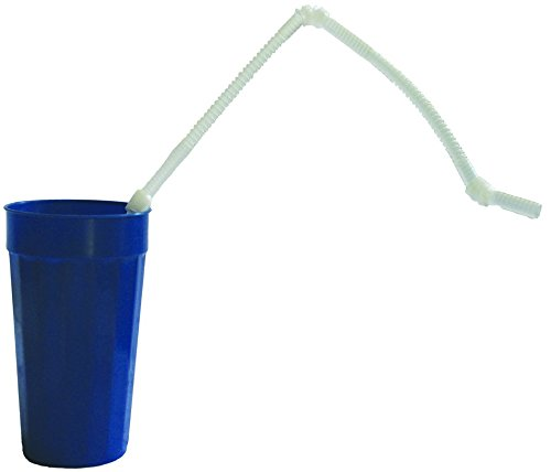 Kinsman Extra Long 28'' Flexible Drinking Straw, Pack of 200 by Kinsman Enterprises