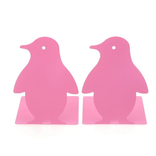 1Pair Luxury The South Pole Penguin bookends bookends Gift Pink