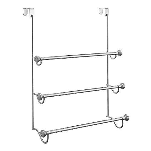 InterDesign York Over Shower Door Towel Rack for Bathroom Storage - Pack of 2, Split Finish ()