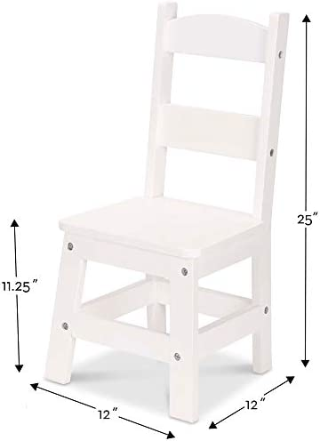 Melissa & Doug Wooden Chair Pair - White