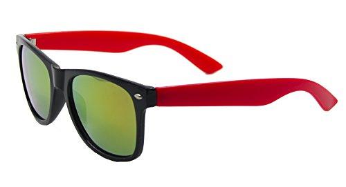 Red Mirror Shop ® ASVP UV400 classique Lunettes Black Wayfarer soleil Wf07 de vd6xwzR6