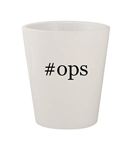 Price comparison product image #ops - Ceramic White Hashtag 1.5oz Shot Glass