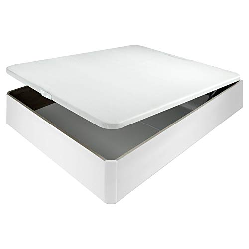 105x190cm Canape abatible Cheap Madera con Tapa 3D Transpirable Altura 34cm Env/ío y Montaje incluidos - Blanco Apertura con hidra/úlicos,5 Colores Disponible