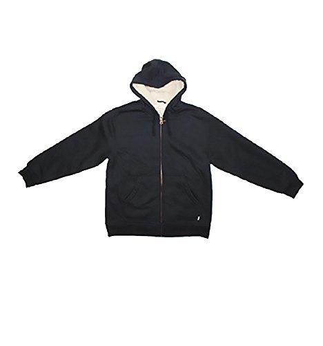 Black Market Vintage (Weatherproof Vintage Mens Full Zip Fleece Hoodie (Medium, Black))