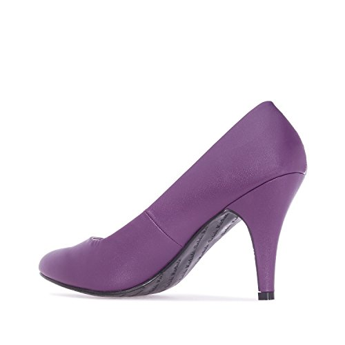 Leather Donna Faux Purple Col Tacco Machado Scarpe Andres InwAqTn0