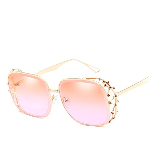 New marine sunglasses personalized polygonal diamond sunglasses ladies sunglasses,Silver frame on blue ()