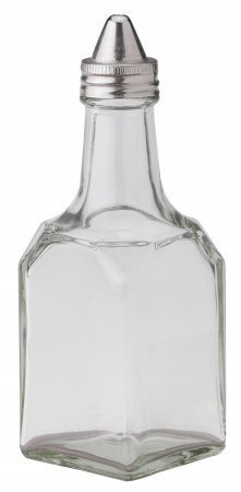HIC Classic Retro Style Cruet Oil and Vinegar Dispenser, Glass, 5.5-Ounce