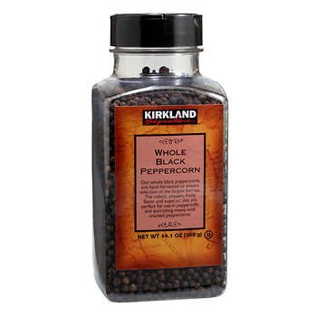 Kirkland Signature Whole Black Peppercorns product image