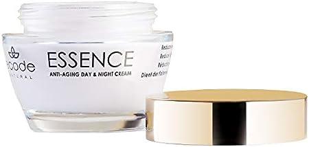 Crema Antiedad de Día y Noche Essence Ecode Natural, con extracto de Edelweiss, activo de rosa alpina y complejo de ácido hialurónico, de 50 ml