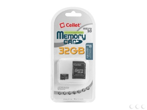 - Cellet 32GB Blackberry 8220 PEARL Micro SDHC Card is Custom Formatted for digital high speed, lossless recording! Includes Standard SD Adapter.