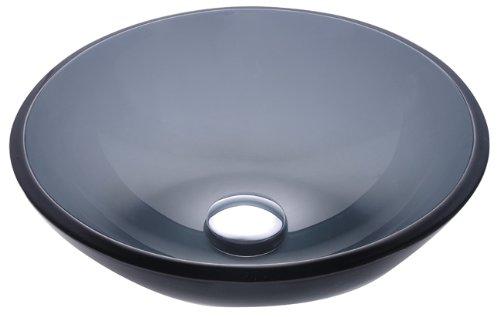 Kraus GV-104 Clear Black Glass Vessel Bathroom (Black Clear Sink)