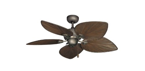 Bombay Tropical Ceiling Fan in Antique Bronze with 42″ Oil Rubbed Bronze Blades