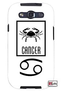 Cool Painting Cancer Sign Zodiac Horoscope Symbol Unique Quality Soft Rubber Case for Samsung Galaxy S4 I9500 - White Case