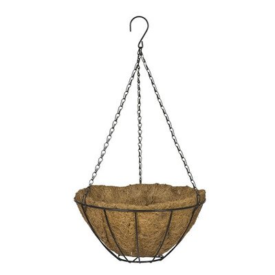 Round Hanging Basket Color: White, Size: - Cobraco Hanging Basket