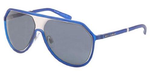 Dolce & Gabbana DG6084 Sunglasses-265087 Blue Rubber (Gray Lens)-60mm