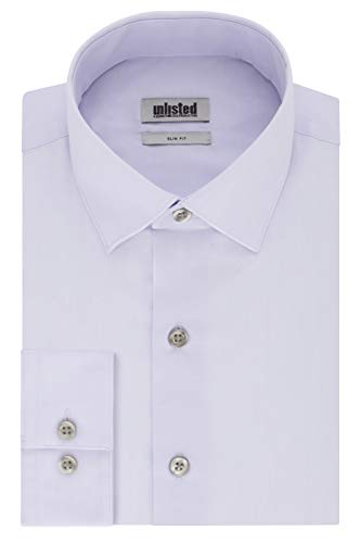 Kenneth Cole Unlisted Men's Dress Shirt Slim Fit Solid, Lilac, 17