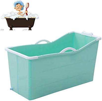 折りたたみバスタブ GYF 折りたたみ式浴槽、ポータブル大型プラスチック製浴槽、家庭用大人風呂樽子供用プール全身シャワーポット子供用の大きなプール (Color : Blue)