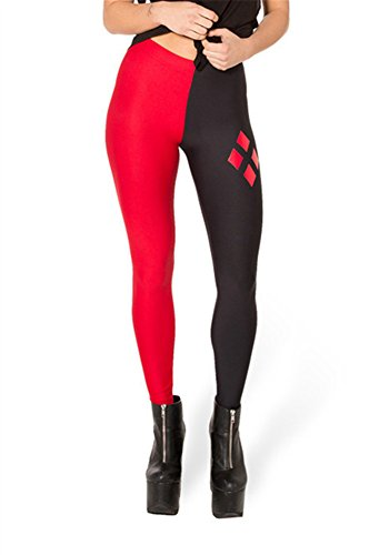 Zanuce Women's 2015 NEW Anime Print Pattern Tight Stretch Leggings(Harley Quinn), 821, One Size -