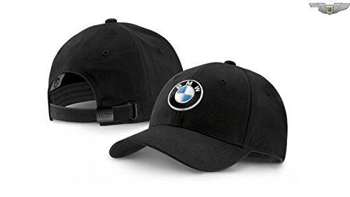 BMW New Genuine BMW Black Emblem Adjustable Cap Hat 80162411103