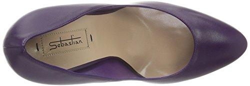 Sebastian S7117 - Tacones Mujer Morado - Violett (Napaub/Oro)
