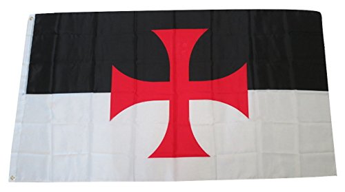 TrendyLuz Flags Knights Templar 3x5 Feet Flag Christian Catholic Church Military Battle Flag ()