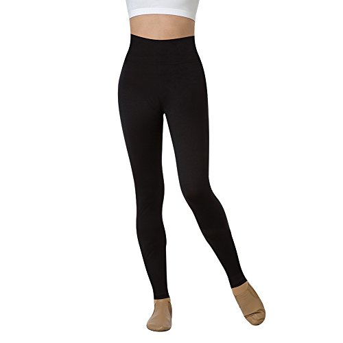 Body Wrappers Roll-Down Adjustable Waist Legging Black Large