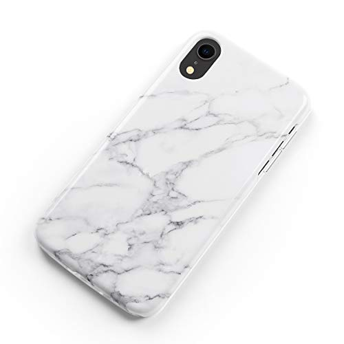 uCOLOR Case Compatible with iPhone XR White Gray Marble Glossy Slim Soft TPU Silicone Shockproof Cover Compatible for iPhone XR(6.1