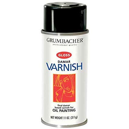 (Grumbacher - Damar Varnish - 12-3/4 oz.- Matte)