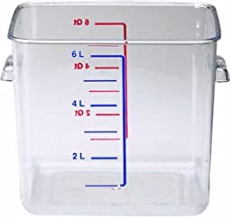 Rubbermaid Commercial Space Saving Food Storage Container, 6 Quart, FG630600