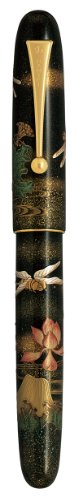 Pilot Namiki Kachimushi Dragonfly and Lotus Limited Edition Fountain Pen, Medium 18K Gold Nib (60718) by Namiki