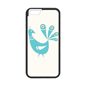 iPhone 6 4.7 Inch Cell Phone Case Black Mid Century Peacock YW5971413