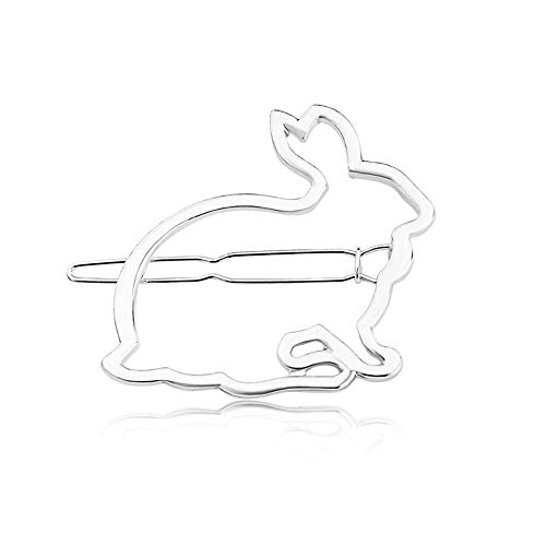 Simple Hollow Metal Cute Little Rabbit Hairpin,Outsta 2019 Fashion Jewelry Hot Sale!Under 5 Dollars Gifts for -