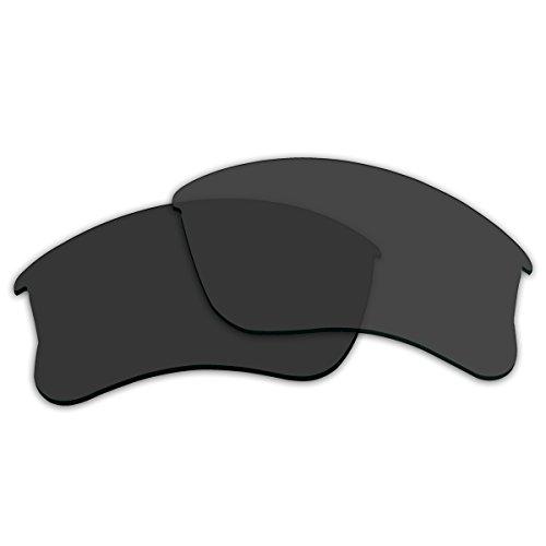 (ACOMPATIBLE Replacement Lenses for Oakley Flak Jacket XLJ Sunglasses (Black - Polarized))