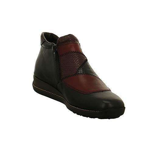 Burgundy 44293 Leather Black Rieker Boots And Womens 7FwpxYqa