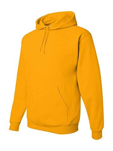 Hood Yellow T-shirt - Jerzees 8 oz. NuBlend 50/50 Pullover Hood, Gold - XXXX-Large