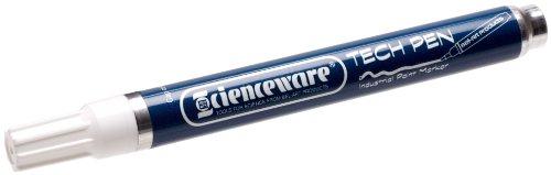 Bel-Art White Oil-Based Tech Pen (F13384-0003) - Felt Glass Marking Pen