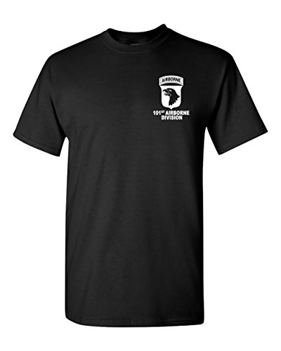 101st Airborne Division Army Black T-Shirt USA (Black, ()