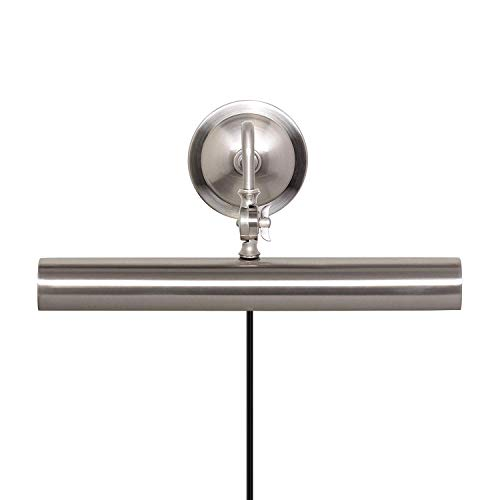 Upgradelights 16 Inch Adjustable Picture Lamp with Backplate (Satin Nickel)