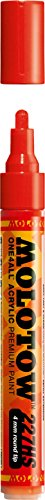 Molotow ONE4ALL Acrylic Paint Marker, 4mm, Traffic Red, 1 Each (227.202)